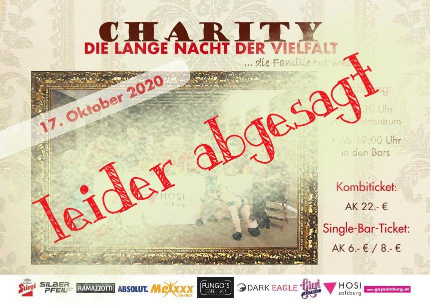 Ankündigungs-Flyer für die Veranstaltung Lange Nacht der Vielfalt. In roter Schrift steht quer darüber: leider abgesagt!